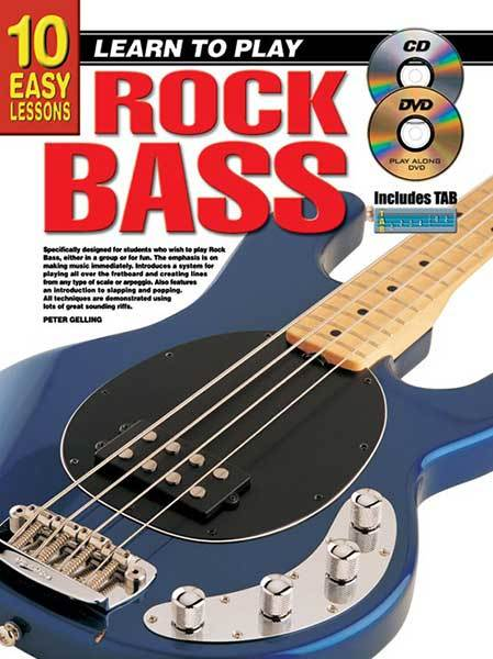 10 Easy Lessons Learn To Play Rock Bass Book/CD/DVD
