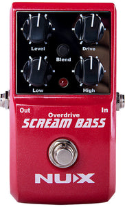 NU-X Core Stompbox Series Scream Bass Overdrive Effects Pedal