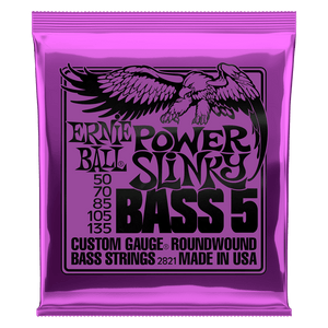 POWER SLINKY 5-STRING NICKEL WOUND ELECTRIC BASS STRINGS - 50-135 GAUGE