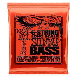 Ernie Ball Slinky Long Scale 6-String Nickel Wound 32-130