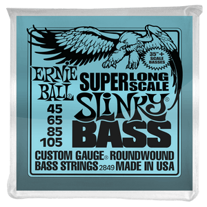 SUPER LONG SCALE SLINKY ELECTRIC BASS STRINGS - 45-105 GAUGE