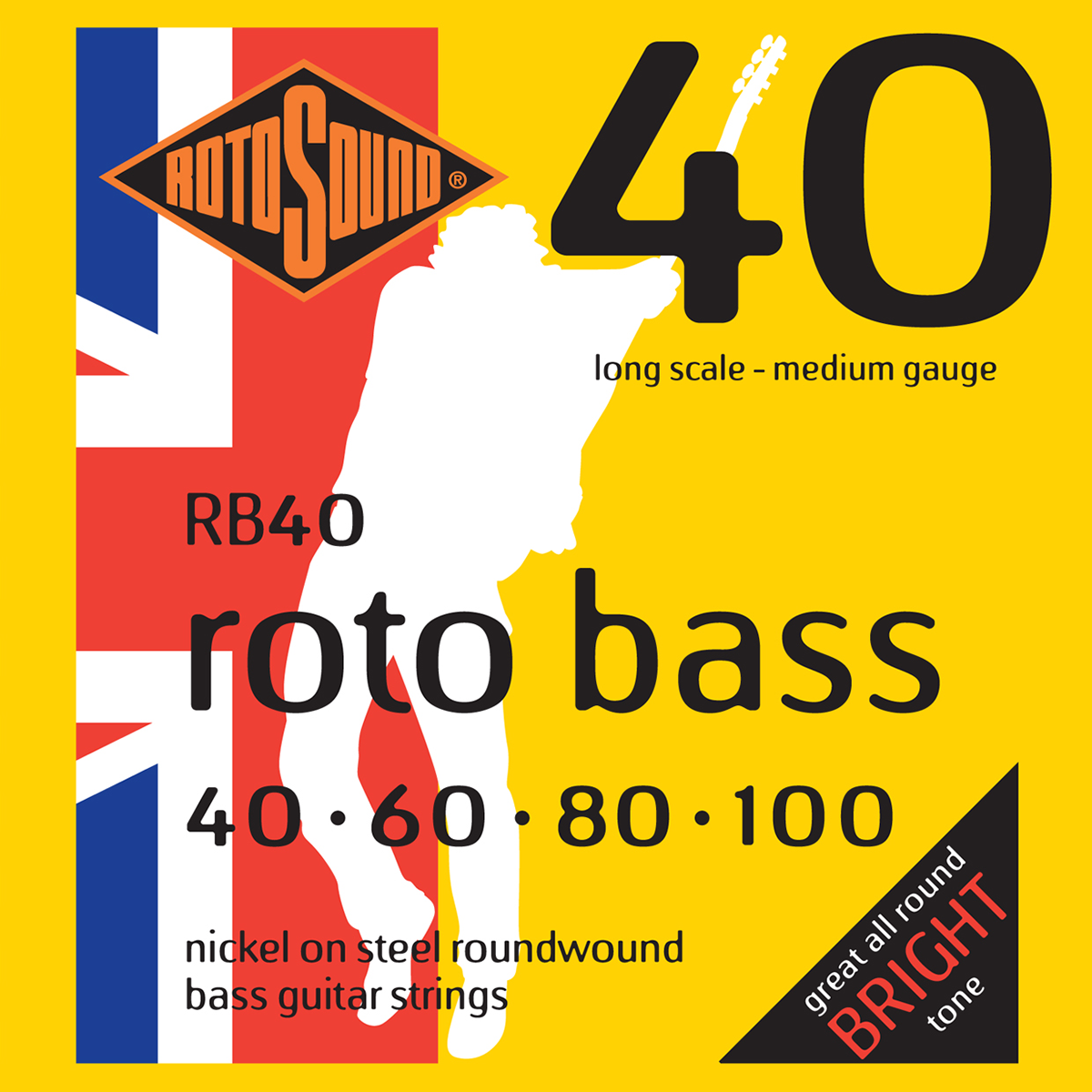 Rotosound RB40 Rotobass Long Scale Medium 40-100 Bass Strings