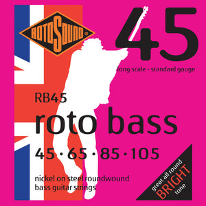 Rotosound RB45 Rotobass Long Scale Standard 45-105 Bass Strings