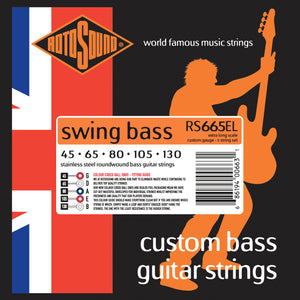 Rotosound RS665EL Swing Bass Extra Long Scale Standard 5 String 45-130 Bass Strings