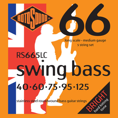 Rotosound RS665LC Swing Bass Medium 5 String 40-125 Bass Strings