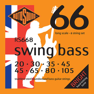 Rotosound RS668 Swing Bass 8 String 20-45 + 45-105 Bass Strings