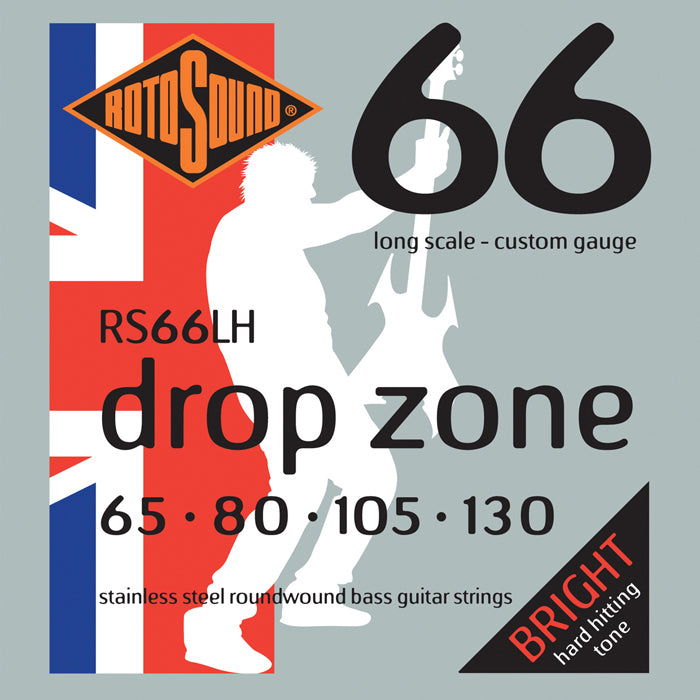 Rotosound RS66LH Swing Bass Drop Zone Super Heavy 65-130 Bass Strings