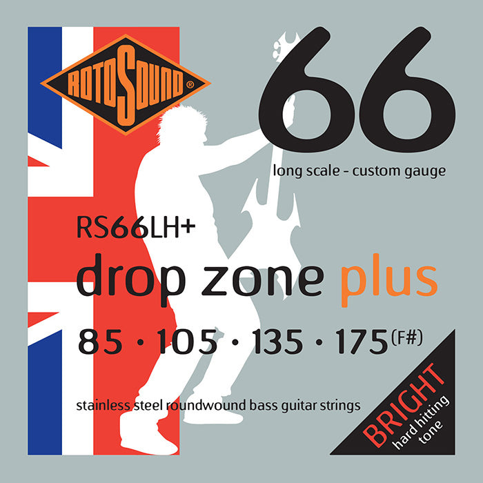 Rotosound Drop Zone RS66LH+ Bass Strings