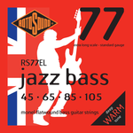Rotosound RS77EL Jazz Bass Monel Flatwound Extra Long Standard 45-105 Bass Strings