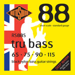 Rotosound RS88S Tru Bass Black Nylon Short Scale Standard 65-115 Bass Strings