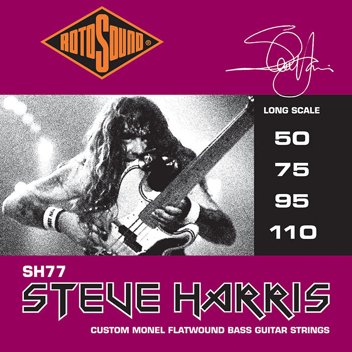 Rotosound SH77 Steve Harris 50-110 Custom Monel Flatwound Bass Strings