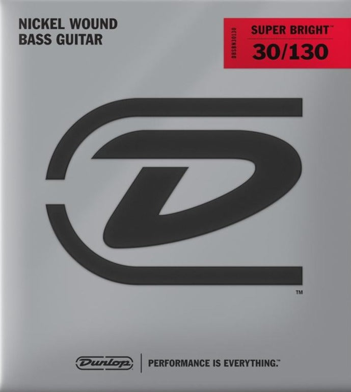 Dunlop Super Bright Nickel Plated Steel Medium Gauge 6 String set 30-130 Bass Strings - DBSBN30130