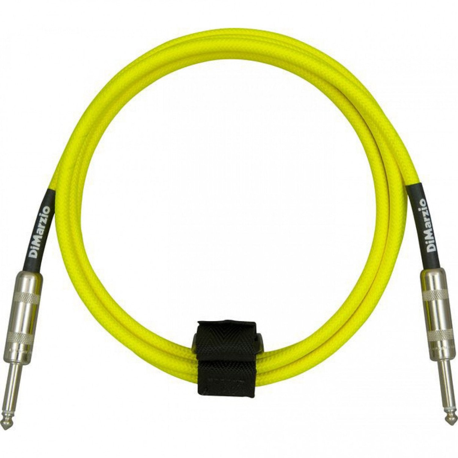 DiMarzio 10ft Braided Instrument Cable Neon Yellow