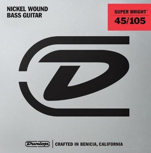 Dunlop Super Bright Nickel Wound Medium Gauge 45-105Bass Strings  - DBSBN45105