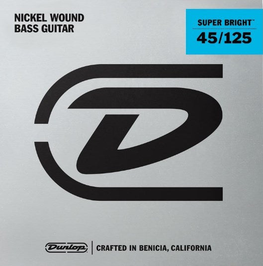 Dunlop Super Bright Nickel Wound Medium Gauge 5 String set 45-125 Bass Strings - DBSBN45125