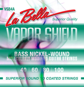 La Bella VSB4A Vapor Shield Bass Strings 40-100