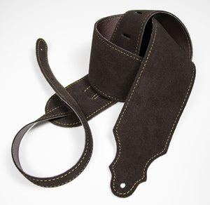 "Franklin 3"" Purist Suede Bass Guitar Strap (Chocolate)"