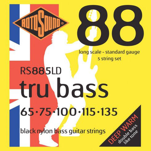 Rotosound RS885LD Tru Bass Black Nylon 5 String 65-135 Bass Strings
