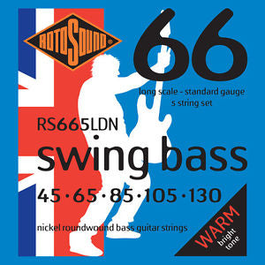 Rotosound RS665LDN Swing Bass Nickel 5 String 45-130 Bass Strings