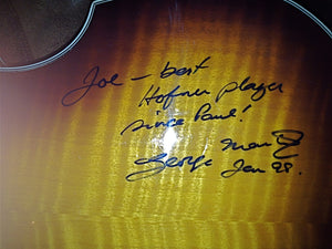 Hofner Beatle Bass signed by Sir George Martin (s/hand)