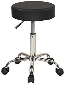 "Stool - Swivel with Chrome legs - 15"" Diameter"