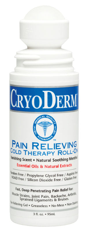 CryoDerm Cold Therapy - Roll on 3 oz