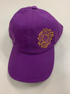 Purple and Yellow Sunflower Hat