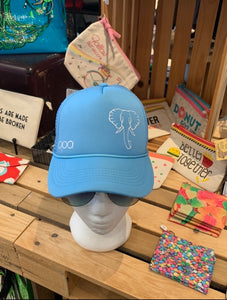 Light Blue Elephant Trucker