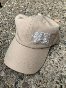 Unstructured Khaki Grizzly Hat