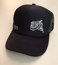 Load image into Gallery viewer, Black Rattlesnake SnapBack Trucker