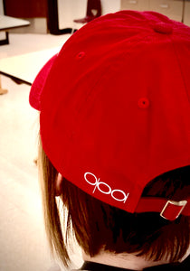 Red Rose Unstructured Hat