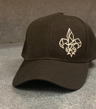 Load image into Gallery viewer, Black Fleur de Lis Hat