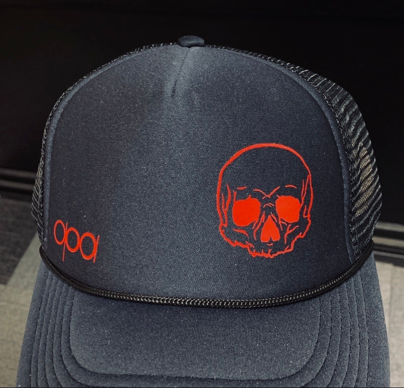 Black Blood Skull SnapBack Trucker