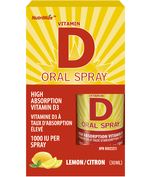 Vitamin D Oral Spray - Lemon