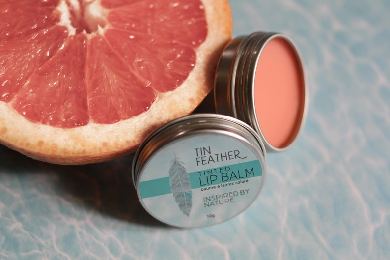 Tin Feather Lip Balm - Transparent/Clear