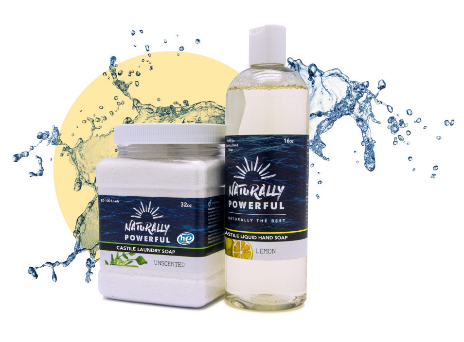 "Naturally Powerful Castile ""BRIGHTENER FOR WHITES"" Laundry Soap"