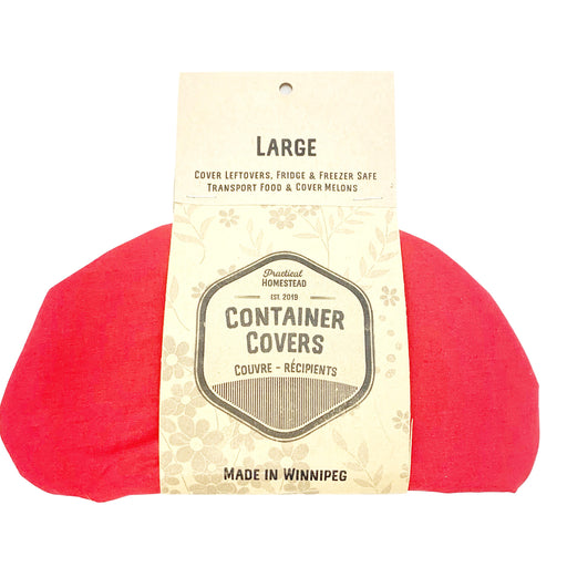 "Practical Homestead - Bowl Cover Large 7.5-10"" (RED ONLY)"