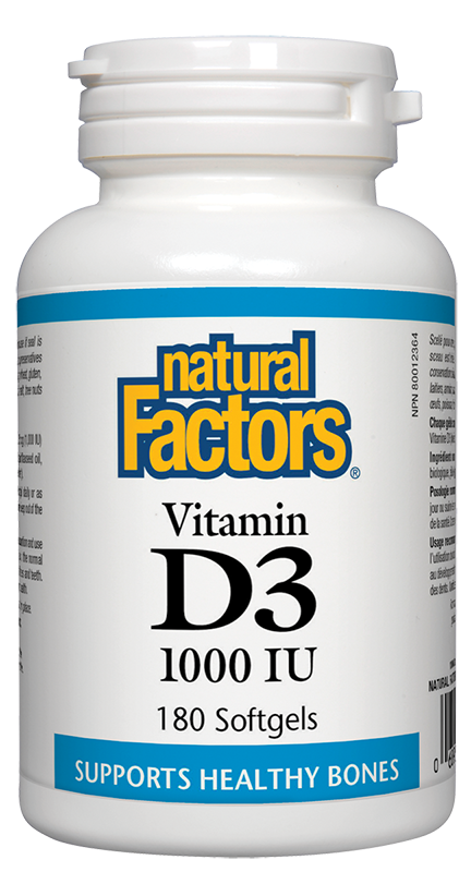 Natural Factors - Vitamin D3 1000IU