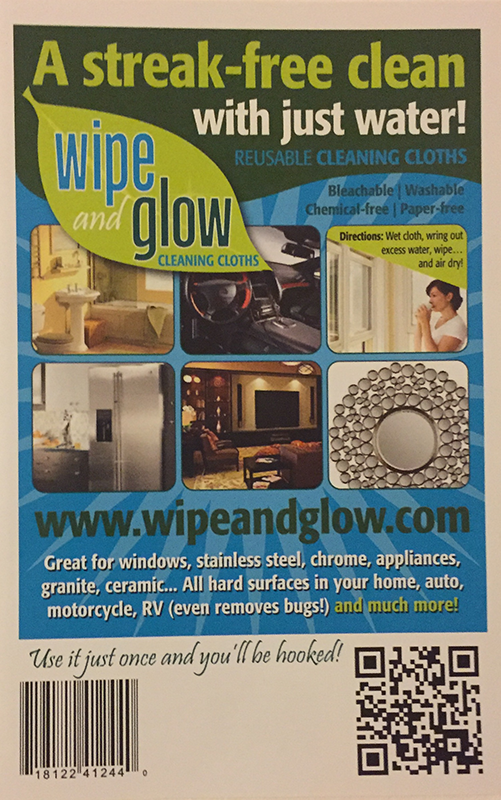 Wipe and Glow - Cleaning Cloths (Deal Price) 4 for $20