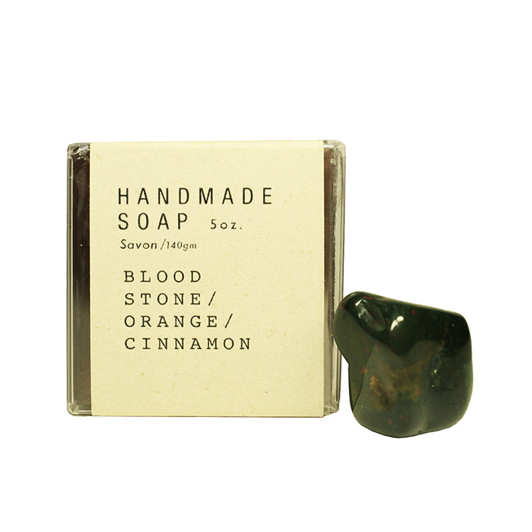 Bloodstone / Orange / Cinnamon Crystal Soap