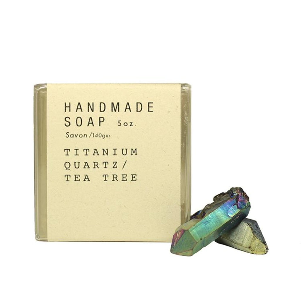 Titanium Quartz / Tea Tree Crystal Soap