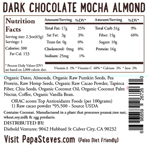 Dark Chocolate Mocha Almond