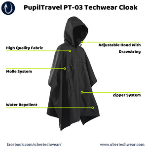 PupilTravel PT-03 Techwear Cloak - ubertechwear | Affordable Techwear Clothing