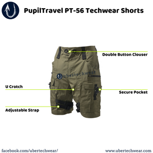 PupilTravel PT-56 Techwear Shorts - ubertechwear
