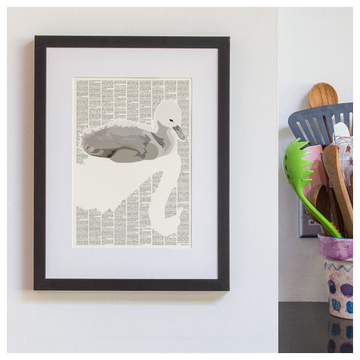 The Ugly Duckling mounted and framed