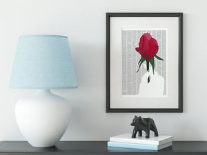 Beauty and the Beast mounted and framed