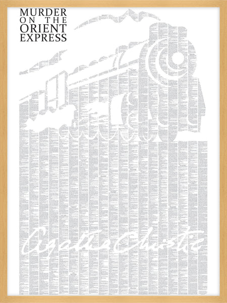 Spineless Classics Murder on the Orient Express Complete Book Wall Poster Decor