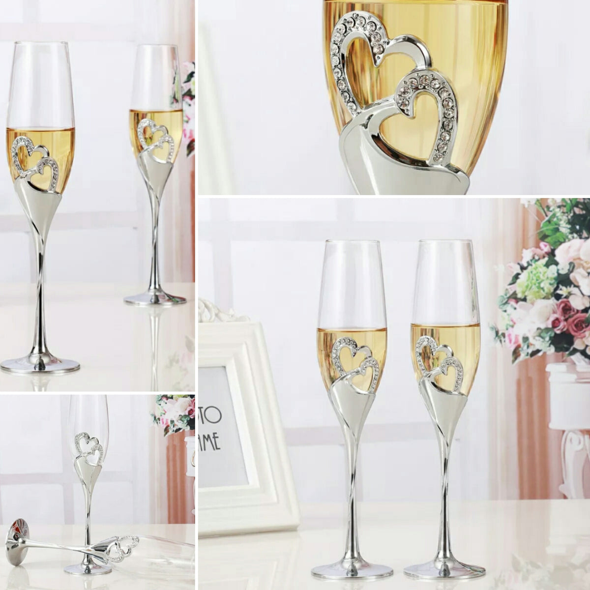 Crystal Wedding Toasting Flute