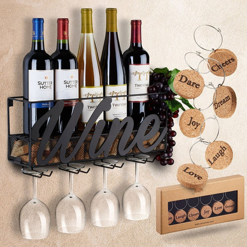 Finer Drinking Wall Mounted Charmed Wine Rack