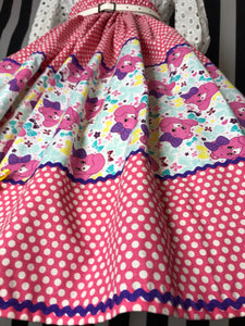 Care Bears white and pink skirt